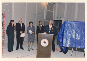 The honorable Joe Bruno in what would become the Black Box Theatre named for him.