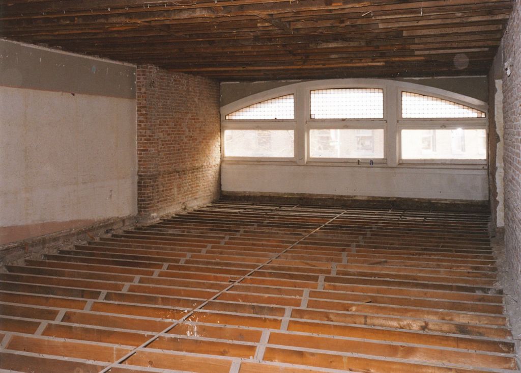 Our front entrance before the second floor was removed.