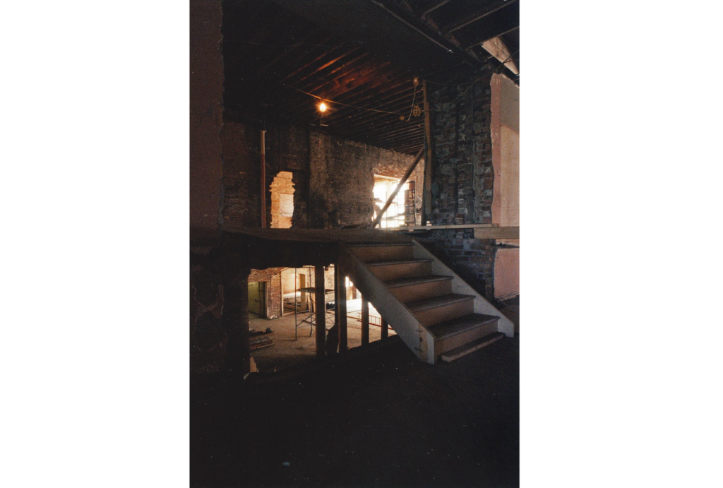 These stairs are still in the same place! Second floor leading to the drawing and painting studios.