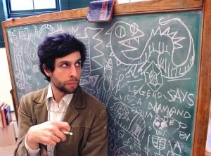 ira chalkboard portrait