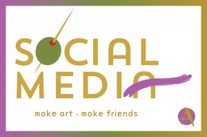 Social Media Front Postcard