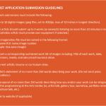 Artist App. Guidelines