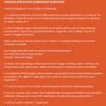 Curator App. Guidelines